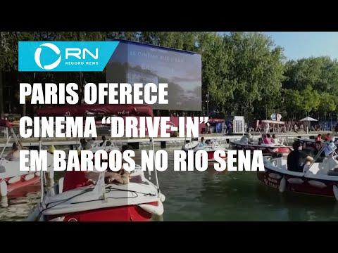"""Paris oferece cinema """"drive-in"""" em barcos no Rio Sena"""