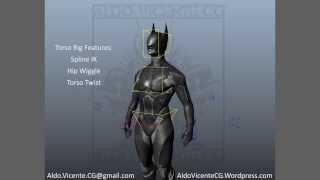 Batman Beyond Character Rig Demo