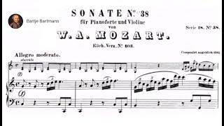 Play Sonata for violin & piano No. 30 in C major (fragment), K. 403 (K. 385c)