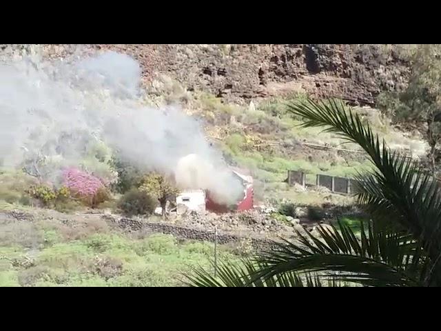Se produce una explosión en una Casa del Barranco del Carmen (Santa Cruz de la Palma).