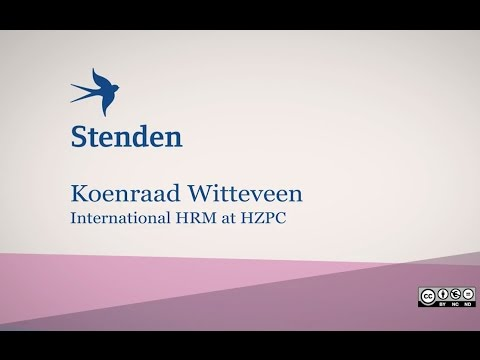 Stenden Guest Lecture - Koenraad Witteveen 'International HRM at HZPC'