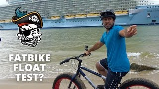 Fat Biking the wake of a cruise ship