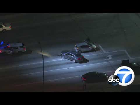 Dramatic chase ends in officer-involved shooting in Fontana | ABC7