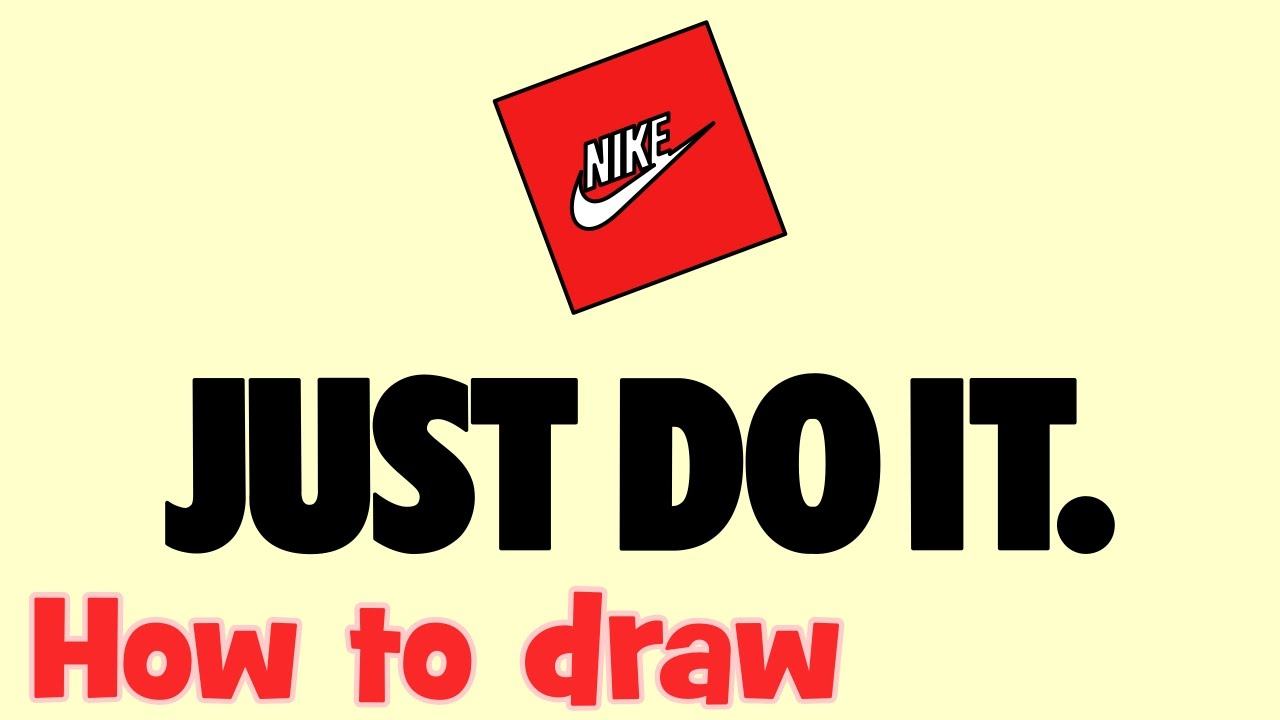 how to draw nike just do it logo youtube