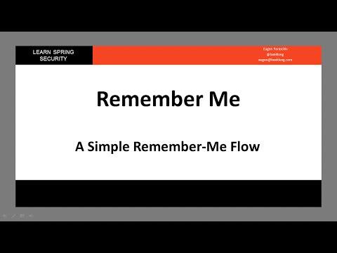 Spring Security Remember Me | Baeldung