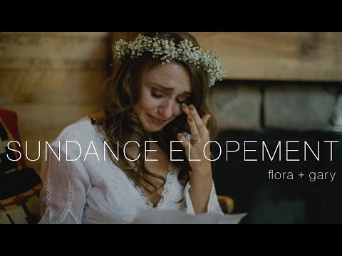 Beautiful Mountain Elopement at Sundance Utah | Flora & Gary's Utah Wedding Videographer