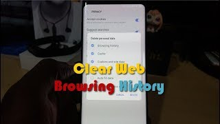 How to Clear Web Browsing History on the Galaxy S8