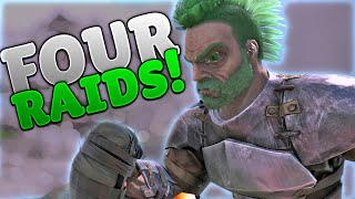 FOUR RAIDS IN ONE NIGHT!!! - Ark Solo Small Tribes Official - Ep11 S2
