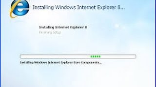 how to uninstall and reinstall internet explorer in windows 7