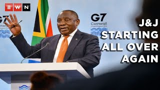 """President Cyril Ramaphosa addressed the G7 summit on 13 June 2021 following announcements by the US FDA that J&J vaccines should no longer be administered. The president said that he had a discussion with the CEO of Aspen Aspen Pharmaceuticals, who ensured him that they were """"starting all over again"""" with another batch of the vaccine.  #Johnson&JohnsonVaccines #Aspen #COVID19 #CyrilRamaphosa"""