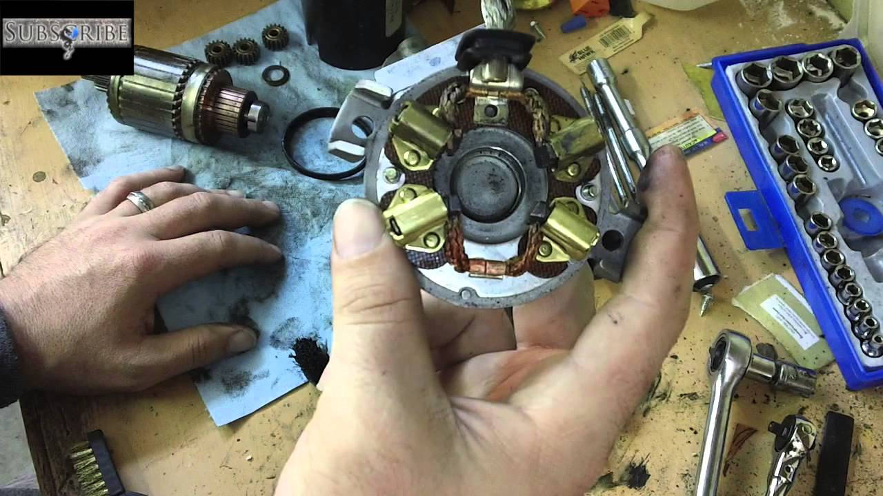 medium resolution of how to fix clean your starter save money rebuild it your self youtube