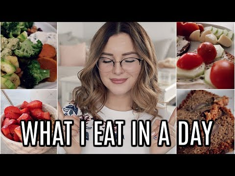 WHAT I EAT IN A DAY | Healthy + Easy 😍🍓