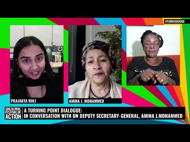 A Turning Point Dialogue: Conversation with UN Deputy Secretary-General, Amina J. Mohammed (Spanish)