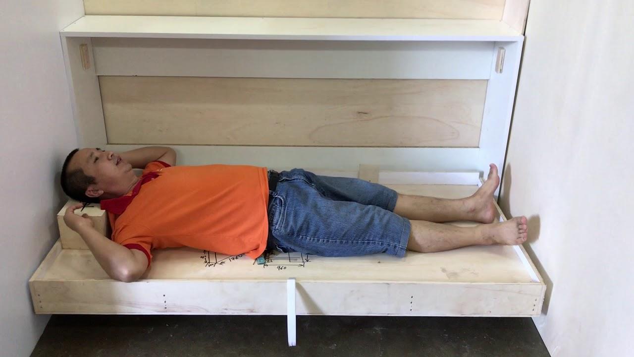 Maid Room Simple Fold Up Bed Rmsize 1 78x1 2m Condo Mock Up Bulkorder Hidden Wall Bed Hdb Ec Bto Youtube