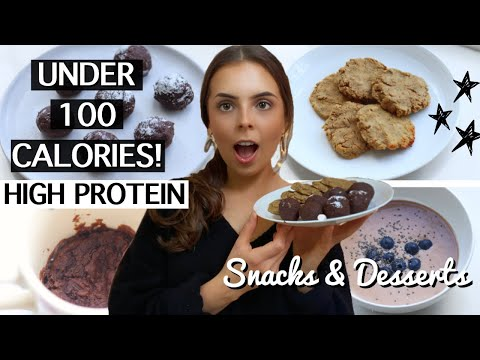 4 HEALTHY LOW CALORIE & HIGH PROTEIN SNACKS & DESSERTS | *weight loss* Easy, Quick Vegan, GF Treats!