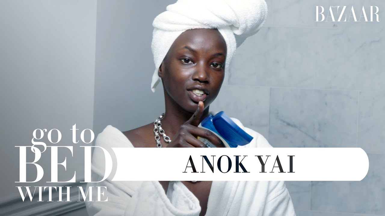 Top Model Anok Yai's Nighttime Skincare Routine | Go To Bed With Me | Harper's BAZAAR