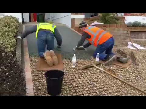Resin Bound Install on EcoGrid Time Lapse