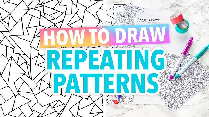 how to draw repeating patterns art hack  hgtv handmade