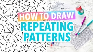 How to Draw Repeating Patterns Art Hack - HGTV Handmade
