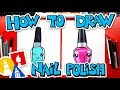 How To Draw A Cute Nail Polish Bottle