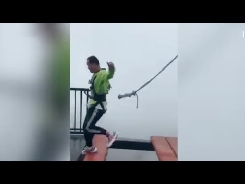 Carmine - Safety Cord Pops Off As Dude Is About To Jump Off Bridge!