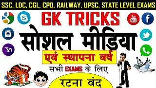 gk tricks Social media and their established year online school