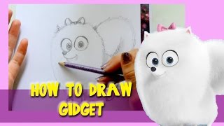 How to Draw GIDGET from SECRET LIFE OF PETS - @dramaticparrot