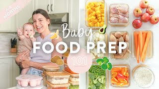 BABY FOOD MEAL PREP  Homemade Purees + Free Downloadable Guide!