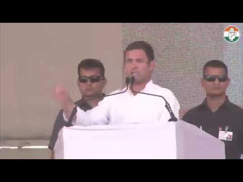 Congress President Rahul Gandhi addresses public meeting in Ajmer, Rajasthan