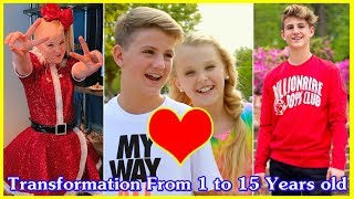 Jojo Siwa vs MattyB transformation From 1 to 15 Years old