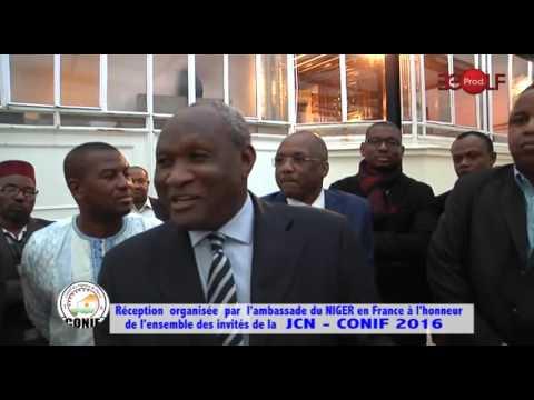 Réception à  l'Ambassade du NIGER en France après la JCN  2016