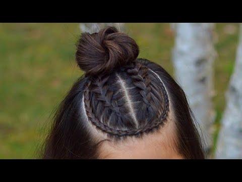 Dutch braid half up style