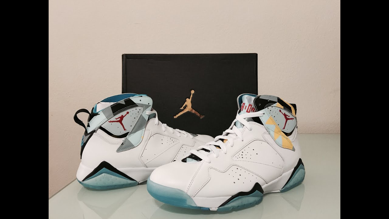 8856e1c10a4b8e Air Jordan Retro 7 N7 first look!!! - YouTube