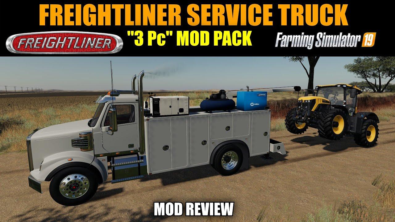 Farming Simulator 19 Freightliner Service Truck v1 0 Mod Review