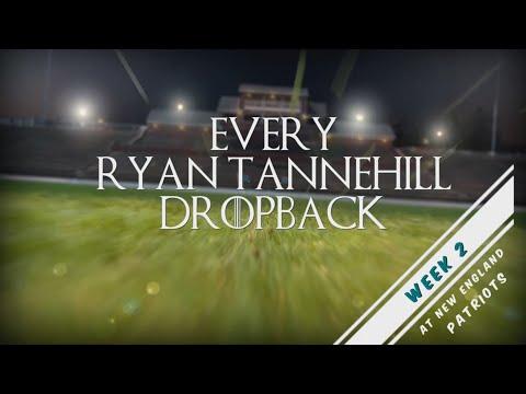 Every Ryan Tannehill Dropback - Week 2 @ NE