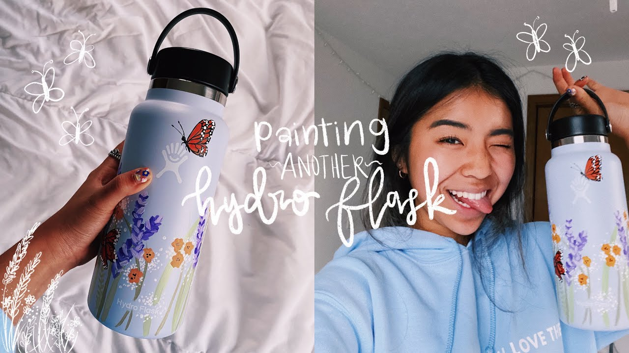 PAINTING MY HYDRO FLASK + GIVEAWAY