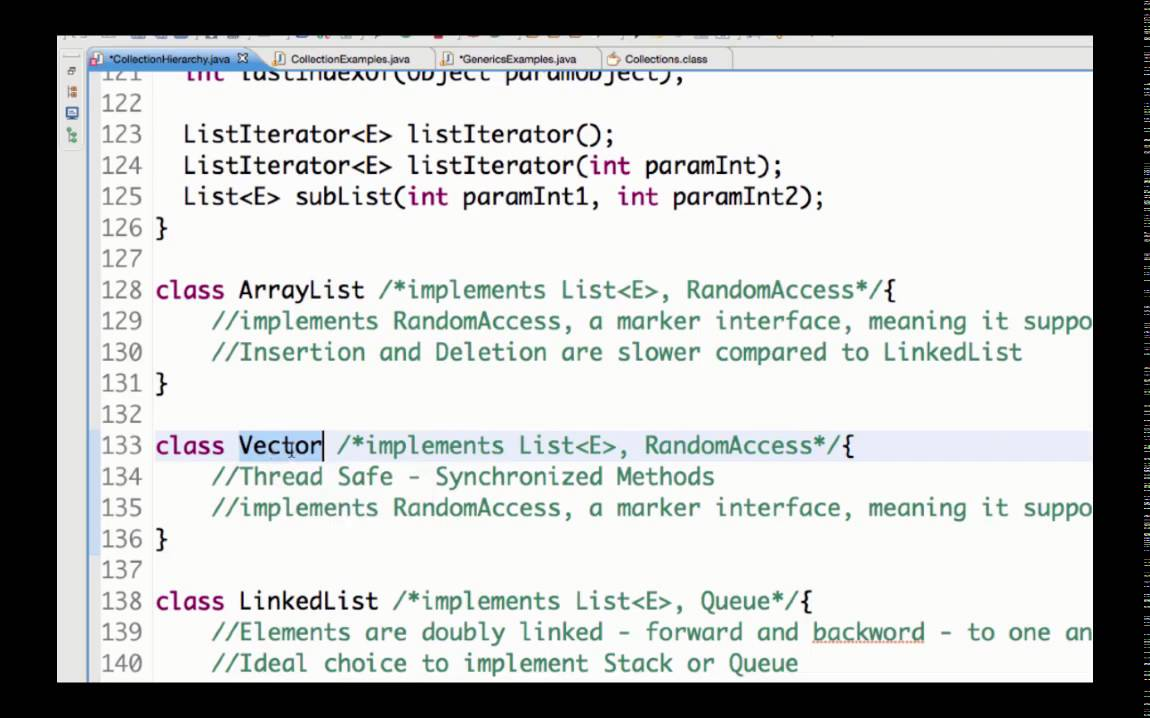 List Interface In Java With Examples Arraylist Vector