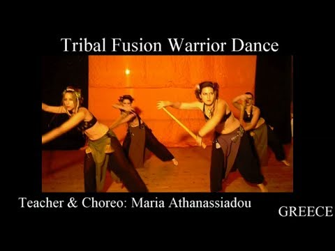 Warrior tribal fusion dance with sticks(Fillipine martial arts) by Maria Athanassiadou Greece 2008