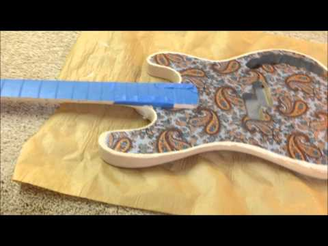 Metallic Silver Paisley Bass - Part 3 - Preparing the Paisley Veneer for Paint