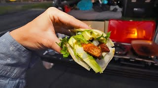 Catch and Cook Blackened Bonita Fish Tacos out of my Truck (Camping Meal)