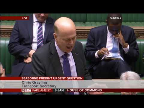 Chris Grayling replies to the Seaborne Freight urgent question