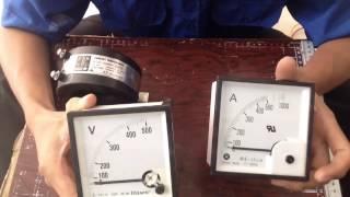 Cách Đấu Dây Đồng Hồ Cơ Volt và Ampe How to connect voltmeter and ampere