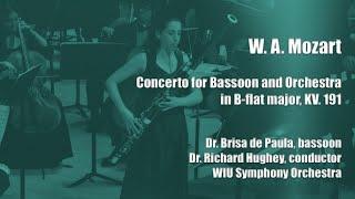 W. A. Mozart: Bassoon Concerto (complete) in B-flat major KV. 191, Brisa de Paula, bassoon
