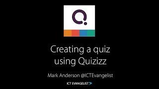 Creating a quiz using @Quizizz
