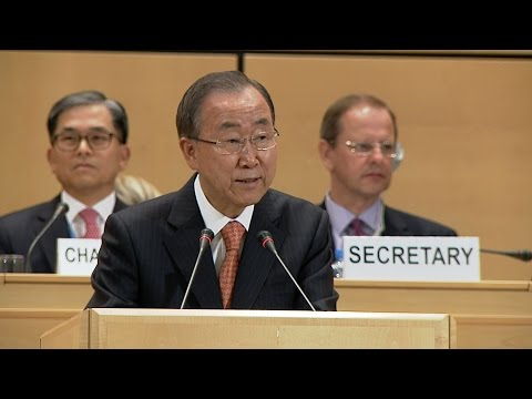 Ban Ki-moon Addresses UNHCR's Executive Committee - 2014
