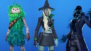 Fortnite NEW Halloween Skins & Emotes Leaked 🎃 (Hemlock, Fright Funk, Bushranger)