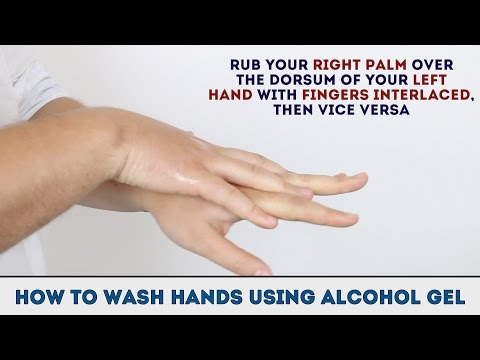How to wash your hands using alcohol gel - OSCE guide