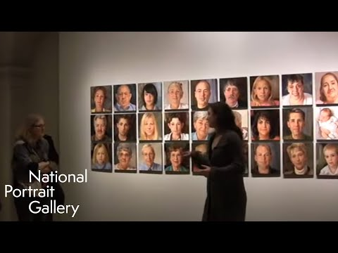 Artist Rose Frantzen at National Portrait Gallery