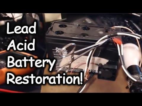 Restoring a Dead Lead Acid Battery W/ Laptop Charger & a Lightbulb