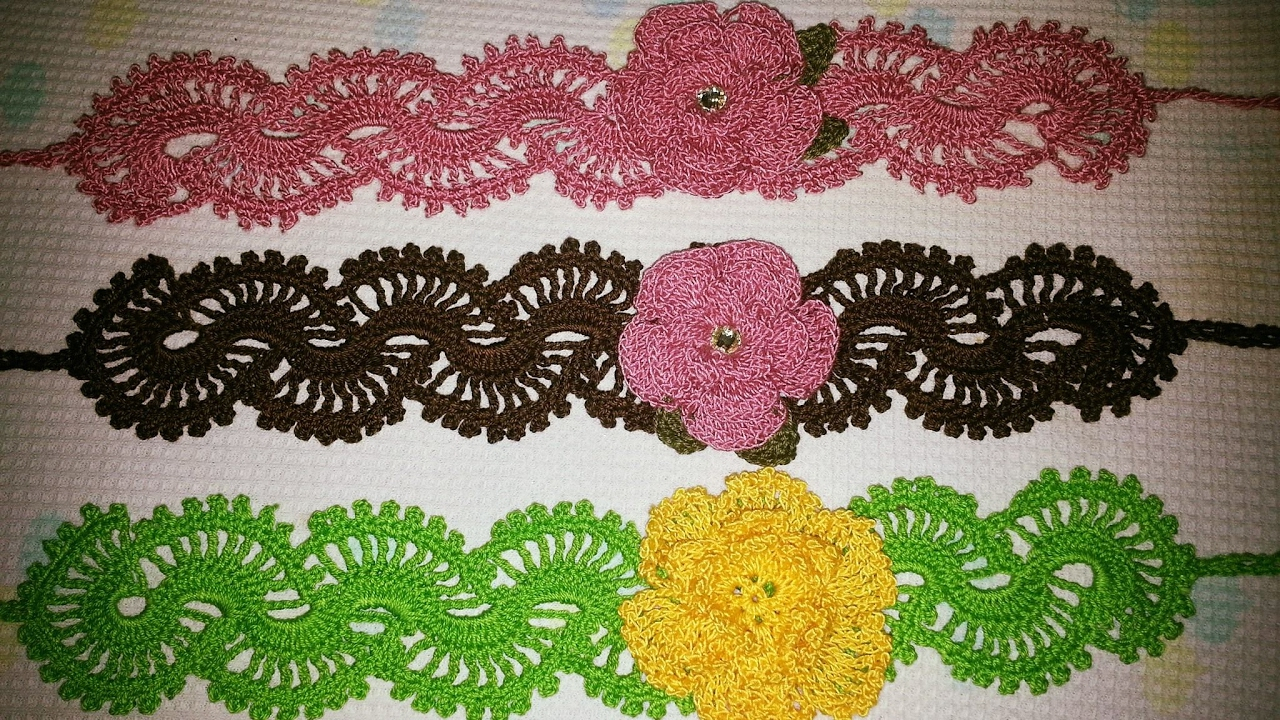 Crochet Lacy Headband Youtube